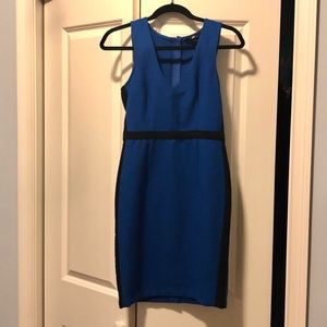 H&M fitted royal blue dress